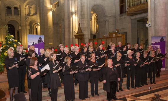 Sing for Life performing at the 4 Corners Festival 'Hear us now' Festival of choirs at St Anne's Cathedral, Picture by Bernie Brown