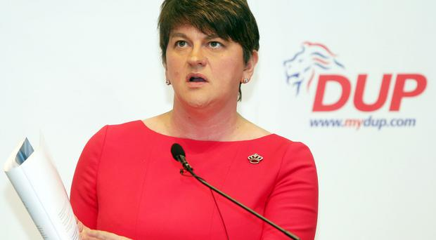 DUP leader Arlene Foster has restated her party will not agree to Irish langauge act. Picture by Jonathan Porter/PressEye.com