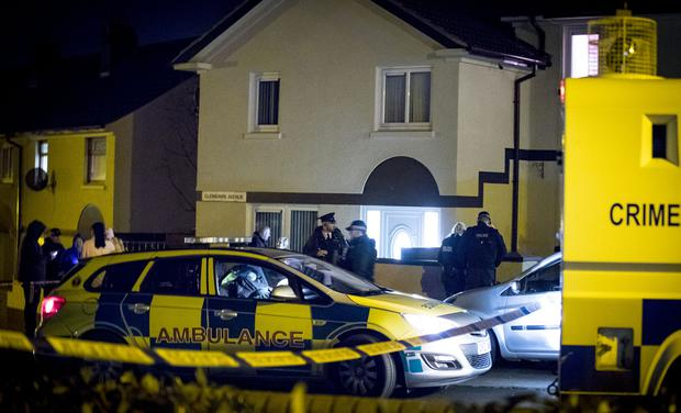 Armed police arrive at the scene of a murder in the Glenbawn Avenue area of Poleglass in west Belfast on February 13th 2018 (Photo by Kevin Scott / Belfast Telegraph)