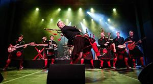 The Red Hot Chilli Pipers played Belfast's SSE Arena on Saturday, February 10.