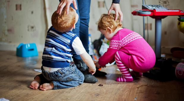 According to the TUC analysis, one in seven children living with a public sector worker in their family will be below the poverty line - an increase of 40% since 2010 (stock image)