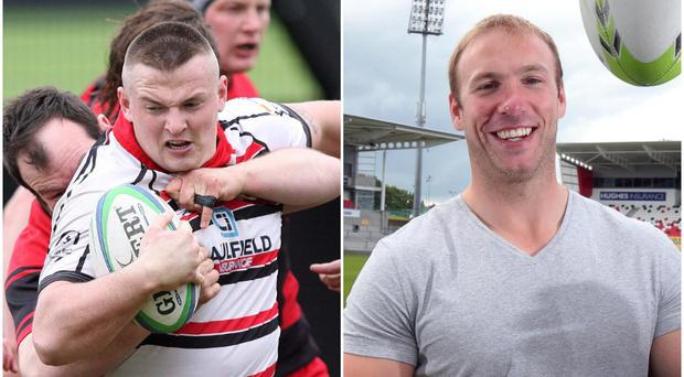 Rainey OB and Ulster A prop Tommy O'Hagan (left) has posted a hilarious parody of Stephen Ferris' (right) weight-loss device video from last summer.
