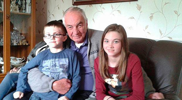 Billy Whiteside with grandchildren Matthew and Anna