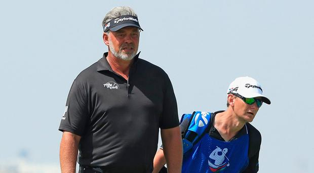 Darren Clarke is through to the weekend at the NBO Oman Open. Photo by Andrew Redington/Getty Images