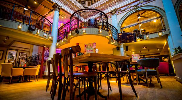 The impressive interior of Revolucion de Cuba