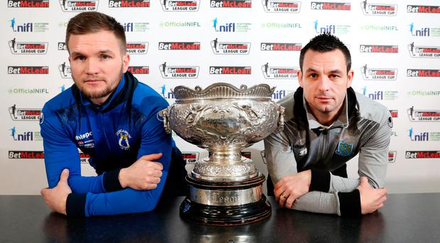 Up for the Cup: Dungannon Swifts captain Ryan Harpur and Ballymena United captain Jim Ervin