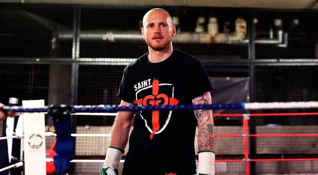 Up for it: George Groves is relishing his role as the slight underdog