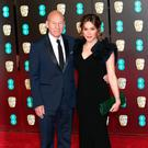 Sir Patrick Stewart and Sunny Ozell attending the EE British Academy Film Awards held at the Royal Albert Hall, Kensington Gore, Kensington, London. Yui Mok/PA Wire.