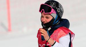 Great Britain's Aimee Fuller in the Ladies Snowboarding Big Air at the Alpensia Ski Jumping Centre