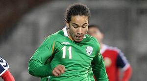 Republic of Ireland U21's Sean Scannell (right) will hold talks over a potential international switch to Northern Ireland.