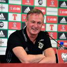 Bring it on: Michael O'Neill is relishing the clash with Israel