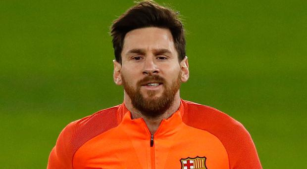 Clear aim: Lionel Messi will seek to break his duck against Blues