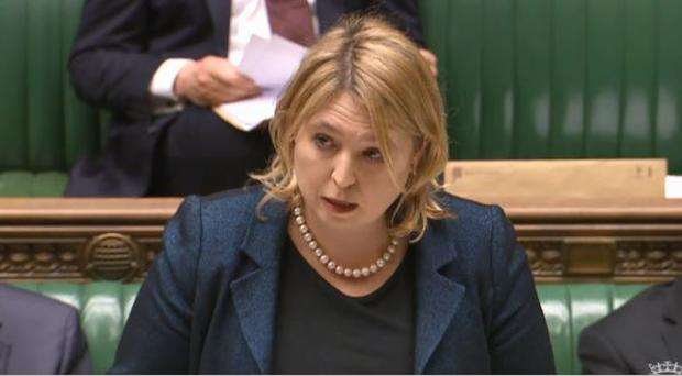 Karen Bradley addressing the Commons