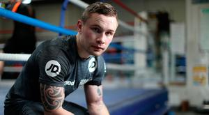 Carl Frampton hosted a media work out session at VIP Boxing Gym on Tuesday. Photo by Mark Robinson/Getty Images