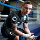 Carl Frampton hosted a media work out session at VIP Boxing Gym. Photo by Mark Robinson/Getty Images