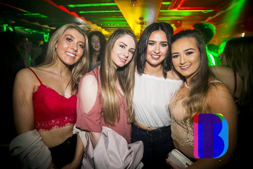People out at Filthy McNastys for Craic 90. Tuesday 20th Feb 2018. Picture by Liam McBurney/RAZORPIX