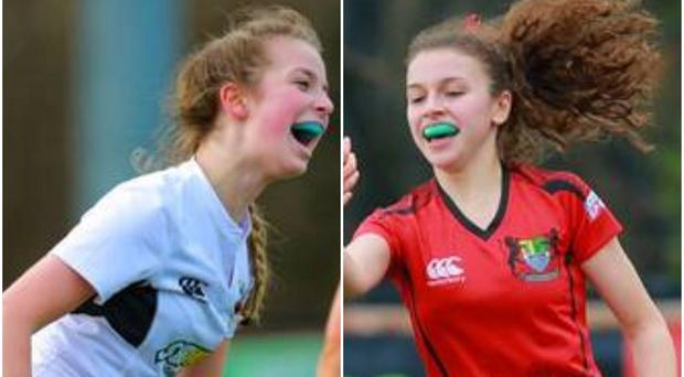 Rainey lauren Mulholland (left) and Banbridge Academy's Nadia Benallal (right) helped fire their side's into the March 7 final.
