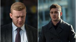 Paddy Jackson, 25, and Stuart Olding, 24, have been accused of raping the same woman in Belfast in June 2016. Both men deny the charges. Stuart Olding is charged with two counts of rape. Paddy Jackson is charged with one count of rape and one count of sexual assault. / Credit: Pacemaker