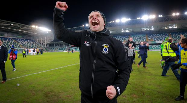 Rodney McAree guided Dungannon Swifts to League Cup success.