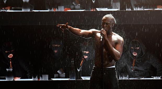 Stormzy performs on stage during the 2018 BRIT Awards show (Victoria Jones/PA Wire)