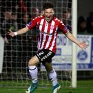 Committed: Conor McDermott has signed a new deal at Derry