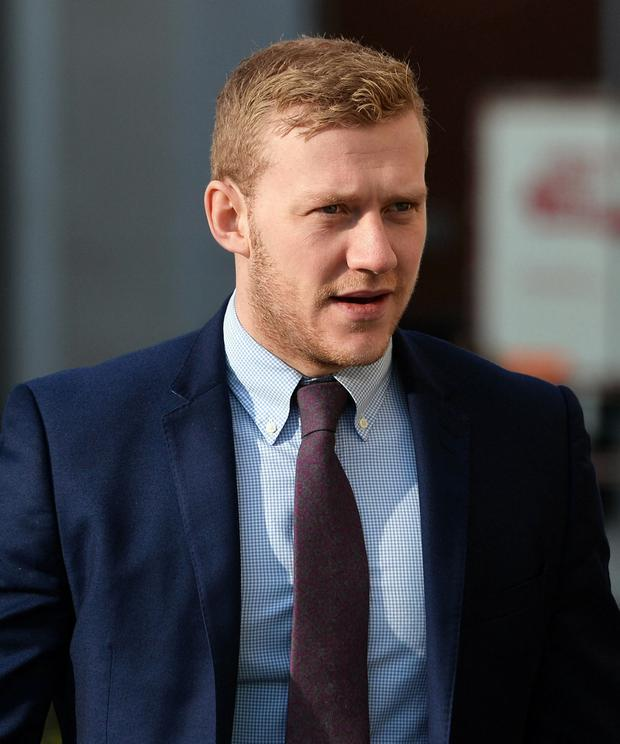Ulster and Ireland rugby player Stuart Olding arrives Laganside Magistrates court