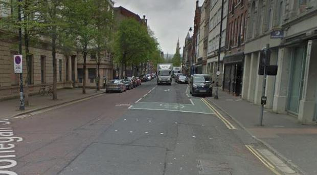 The attack happened at a shop in Donegall Street in Belfast. Pic Google Maps