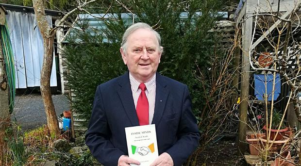 Former Mayor of Clare, Flan Garvey, with his new book Inside Minds North and south.