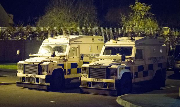 Police carry out a search operation in the Brians Well Grove area in relation to the murder of Raymond Johnston of west Belfast (Photo by Kevin Scott / Belfast Telegraph)