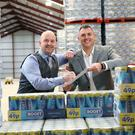 Boost to business: Gareth Hardy, managing director of County Antrim company Hardy Sales and Marketing Ltd (HSMNI), and Boost Energy founder and Managing Director Simon Gray.
