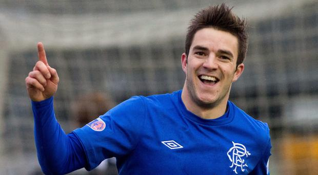 Andy Little in action for Rangers back in 2012. He has paid tribute to the support he received from his former club's fans after sustaining a fractured skull last year.