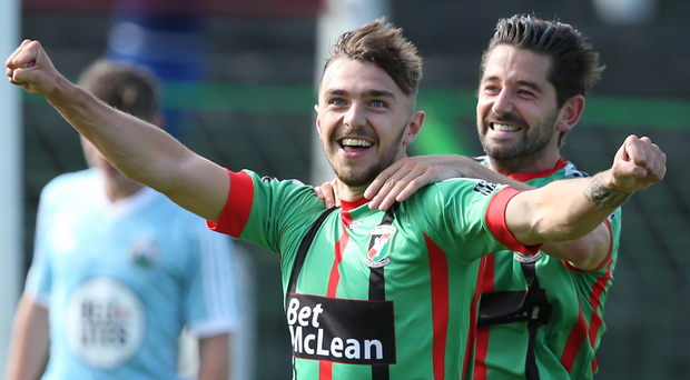 Robbie McDaid netted his first senior hat-trick.