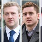 Harrison, Olding, Jackson and McIlroy deny all the charges against them.
