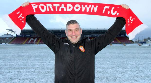 Matthew Tipton is revealed as Portadown's new manager following on from the departure of Niall Currie last weekend. Photo by David Maginnis/Pacemaker Press