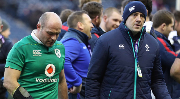 Warning: Rory Best is dejected after last year's defeat to Scotland