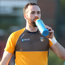 Net gains: Chris Kerr has kept a clean sheet for Antrim in their four league games to date