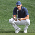 Confident: Rory McIlroy feels his putting is good enough to enable him to complete the Grand Slam next month
