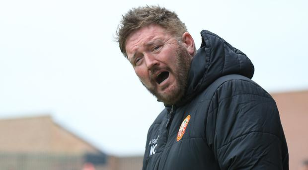 Currie fright: Niall Currie was shown the door by Portadown