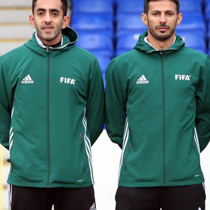 Warm welcome: Two of the officials from Saudi Arabia who officiated at Coleraine last weekend
