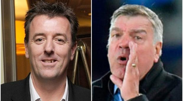 Two of Larne's newest supporters Sam Allardyce and Matt Le Tissier.