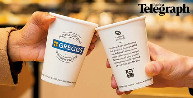 Receive a free hot drink in Greggs when you purchase the Belfast Telegraph