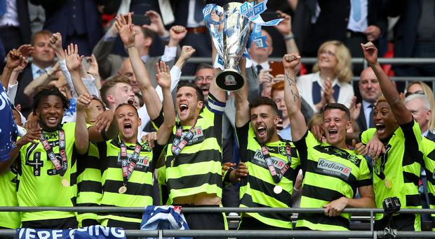 Huddersfield return to Wembley for the first time since their play-off final triumph