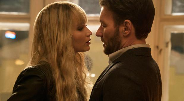 Spy games: Jennifer Lawrence stars with Joel Edgerton in Red Sparrow