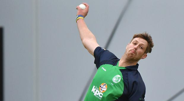 On form: Boyd Rankin was superb with both bat and ball for Ireland yesterday