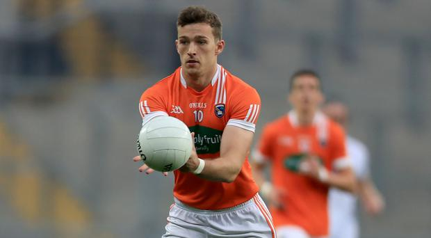 On fire: Fit-again Ethan Rafferty is currently Armagh's top scorer in their push for promotion to Division Two.