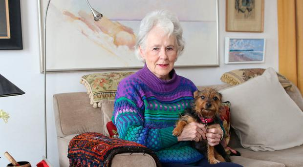 Folklore fanatic: Doreen McBride and dog Lola at home