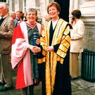 Respected: Dame Beulah Bewley (left) with Mary Robinson, former President of Ireland