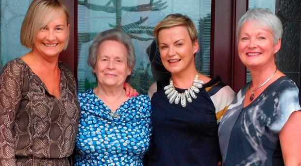 Happy family: Heather (right) with her sisters Liz and Ruth and mum Ann