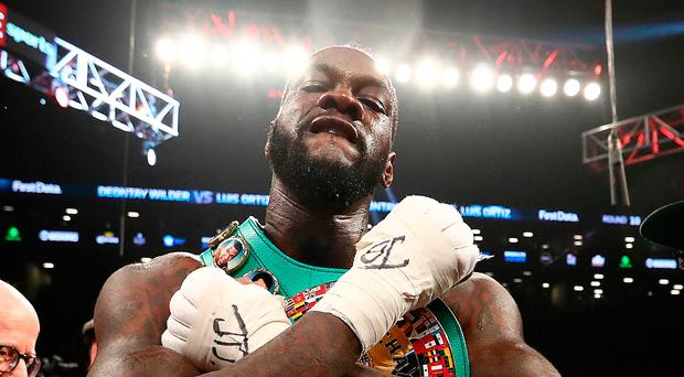 Knockout: WBC heavyweight champion Deontay Wilder