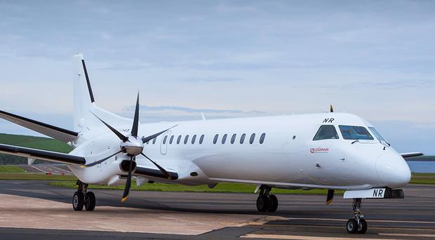 The Loganair Saab 2000 which will operate the Monday to Saturday service / Credit: Loganair